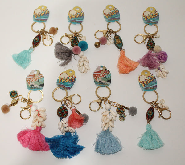 Key Rings in multi colors (pack of 10)