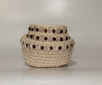 Knitting Cotton Basket (set of 3)