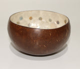 Coconut bowl with shell inside