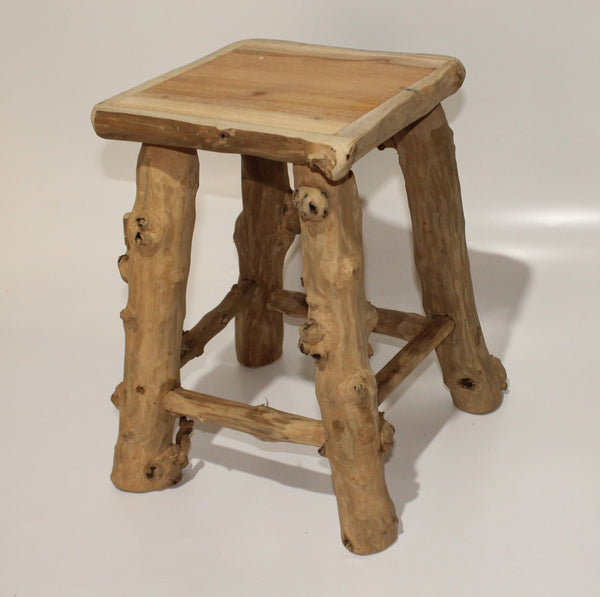 Stool of coffee wood