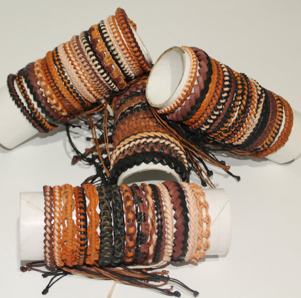 Bracelet leather 6-8mm (Pack of 15pcs)