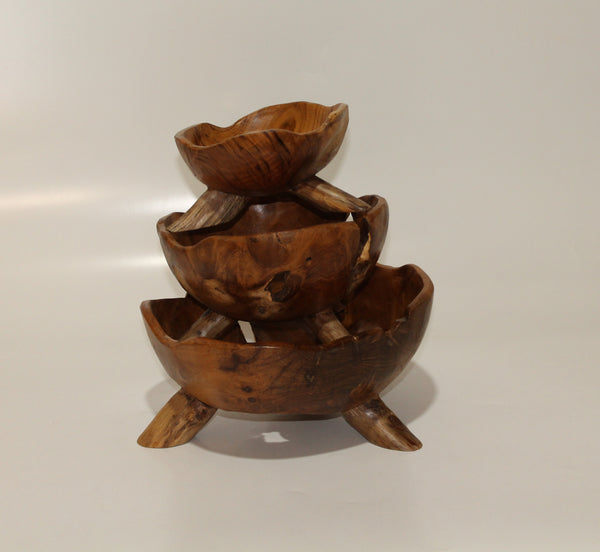 Bowl In Teak wood (Set of 3)