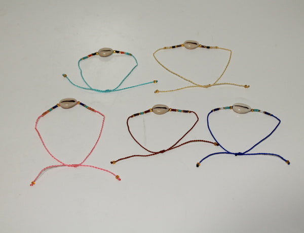 Bracelet with Shell (Pack of 10 mix colors)