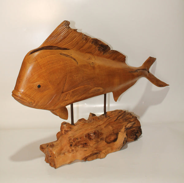 Tuna and Mahi-Mahi in Teak wood