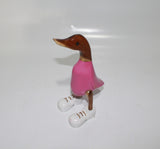 Pink Duck With White Shoes