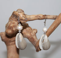 Earrings from Shell with Pearl in 5 variants