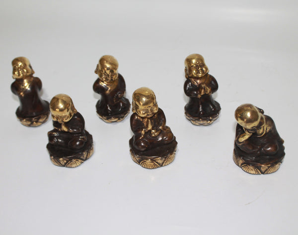 Buddha Monk Lotus in set of 6