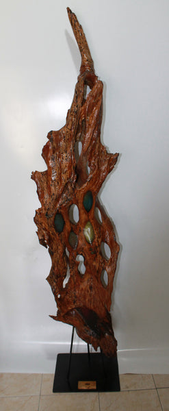 Wooden Statue with Resin Art.