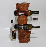 Vine-Stand 4 bottles from coffee wood