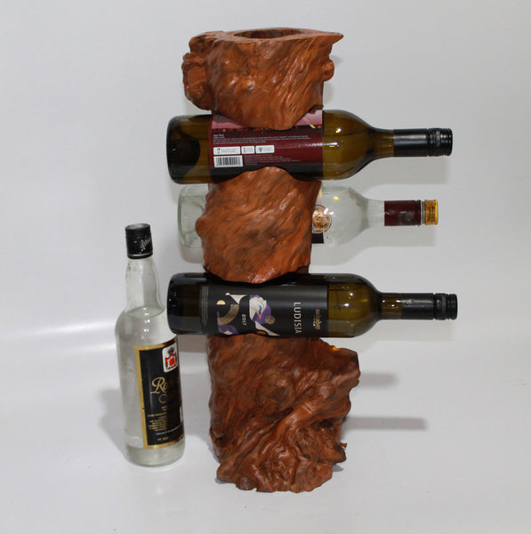 Wine-Stand 4 bottles from coffee wood