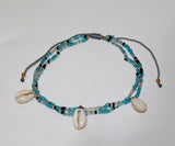 Anklet Double With 3 Shell Charm