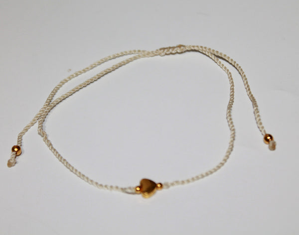 Anklet with Brass Heart