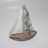 Boat with Sail form beach Glass
