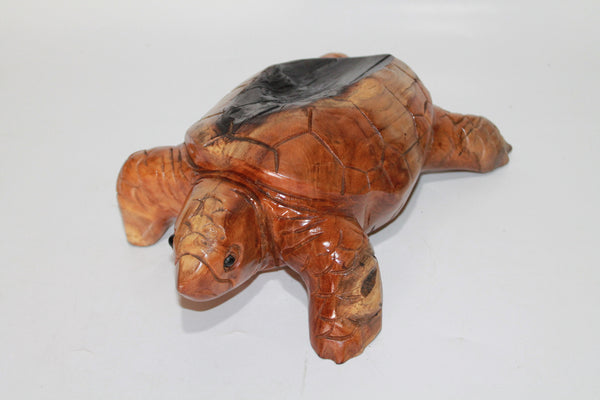 Teak Wood Turtle got Burned