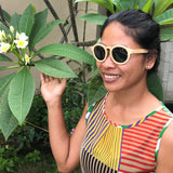 Lady Sunglasses Made From Wood (Brown Lens)