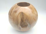 Round bowl vase in Teak Root Wood