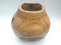 Round Vase in Teak Root Wood