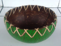 Coconut bowl Rattan ornament