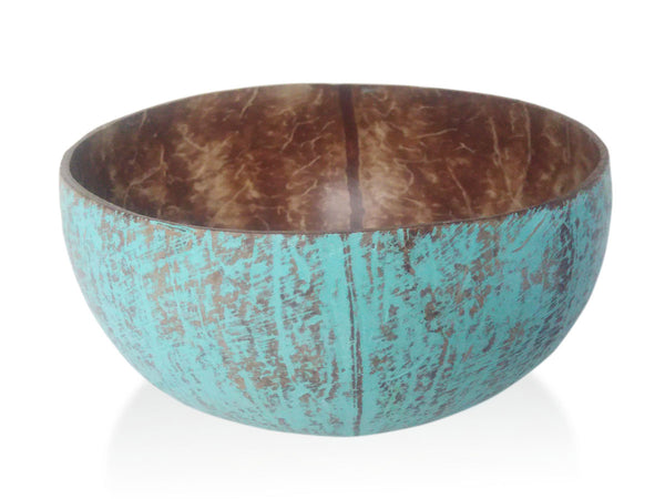 Coconut bowl with Wash Paint