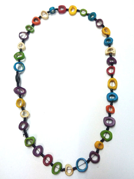Bone necklace multi-color