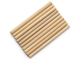 Bamboo straw pack of 12