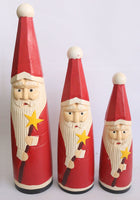 Standing Santa bottle set of 3
