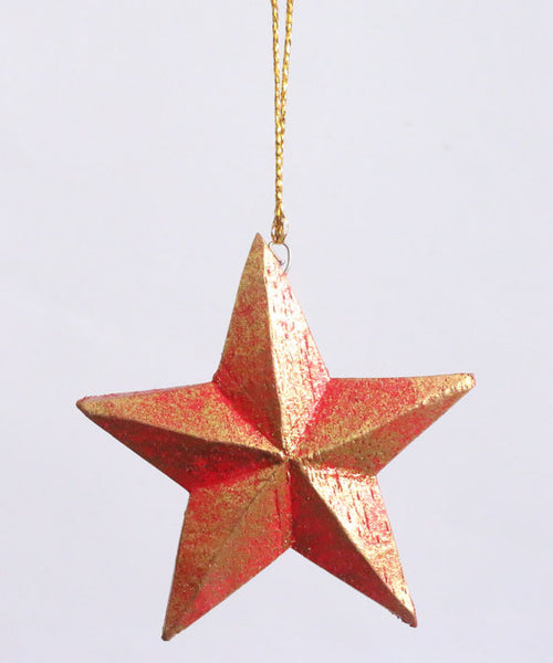 Hanging star pack of 4