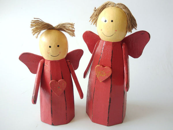 Wooden Angel set of 2