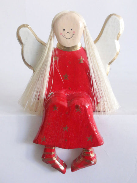 Sitting Angel Red