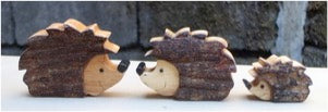 Hedgehog set of 3