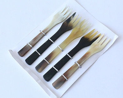 Small fork pack of 5 (Horn)