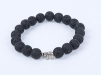 Lava stone Bracelet with Elephant
