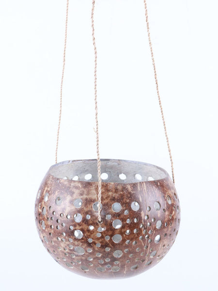 Hanging Coco T-Light Round Carved