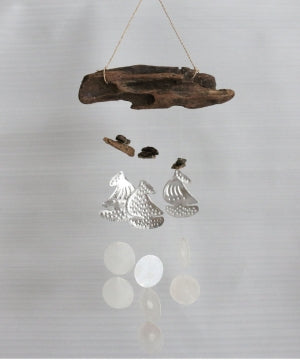 Driftwood Chime with Aluminium boat