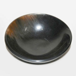 Buffalo Black Round Bowl (Horn)