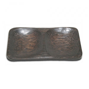 Plate with 2 Compartment (Palm wood)