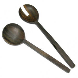 Salad set with long shaft (Rosewood)
