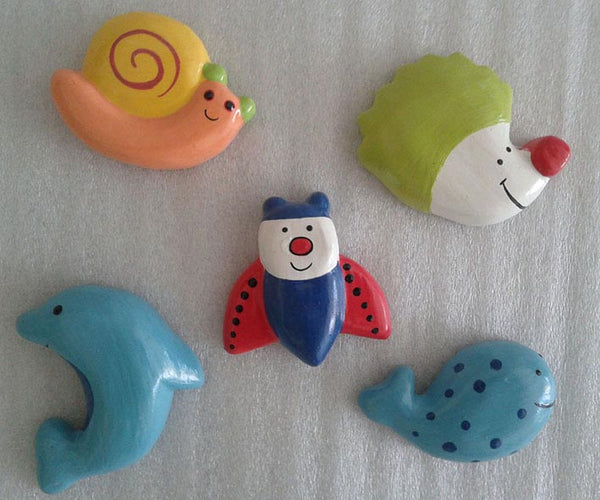 Mix animal magnet decoration set of 5