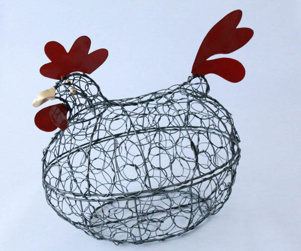 Chicken basket with lid (Black silver)