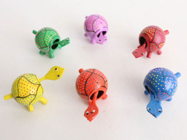 Small Turtles with moving head (Pack of 100 in 6 colors)