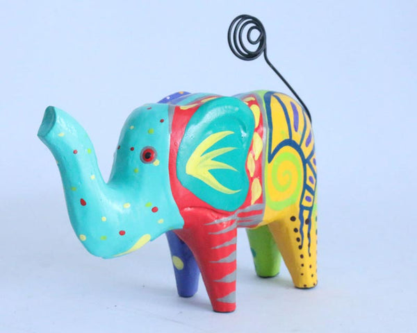 Wooden Elephant Card Holder