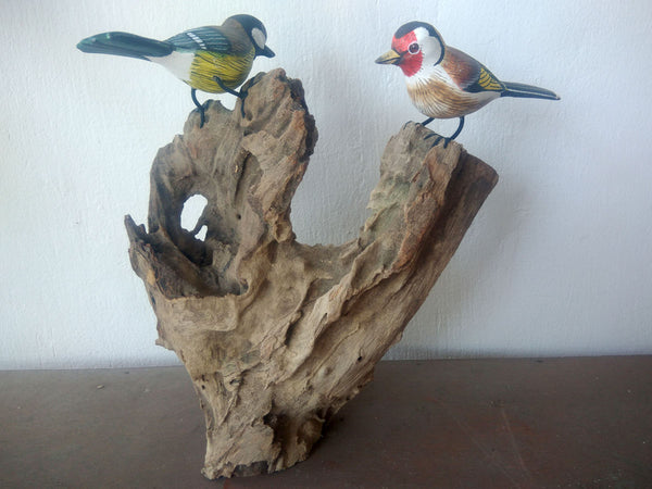 Birds on wood (2, 3 or 4)