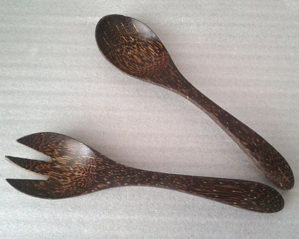Salad set Bended handle (Palm wood)