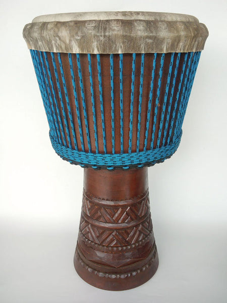 Djimbe Drum with Carving