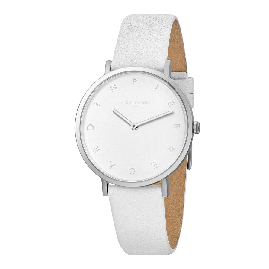 Belleville Tribute White Leather Watch