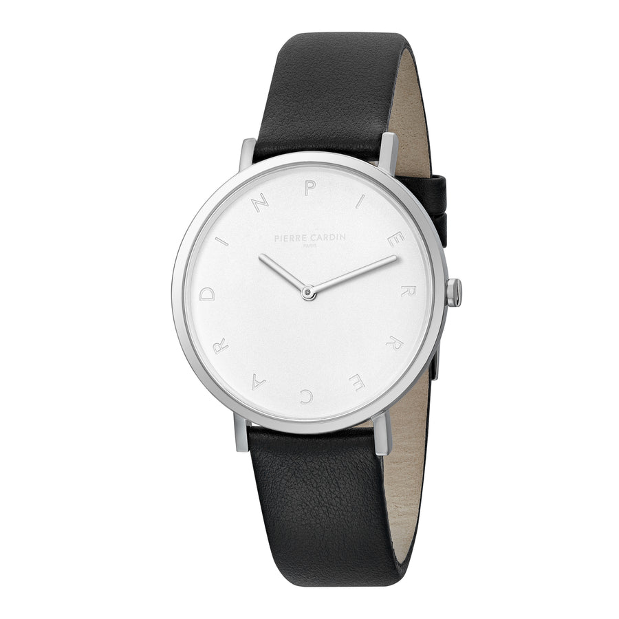 Belleville Tribute Black Leather Watch
