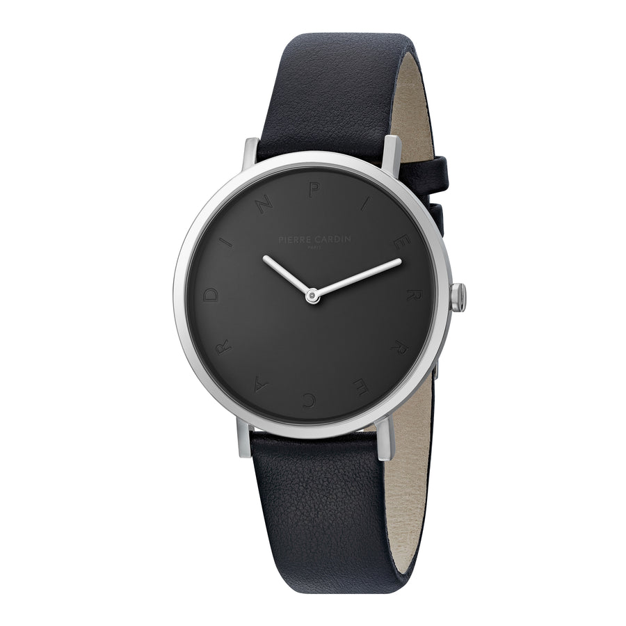 Belleville Tribute All Black Leather Watch