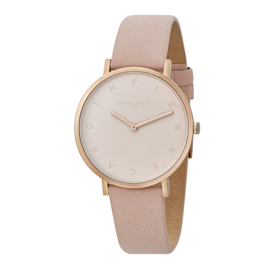 Belleville Tribute Rose Gold Leather Watch