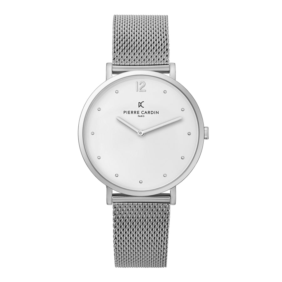 Belleville Simplicity Stainless Steel Mesh Watch