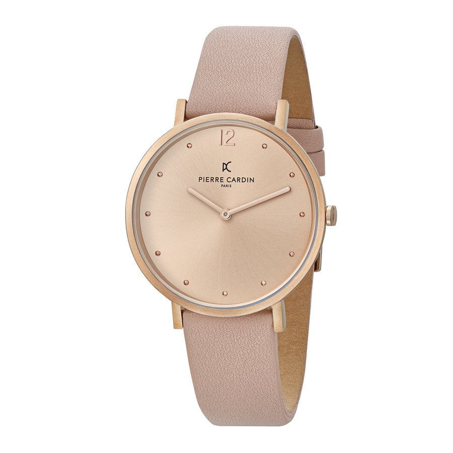 Belleville Simplicity Rose Gold Leather Watch